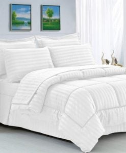 Brushed ashore coastal coral seashell quilt bedding set for Elegant white comforter sets