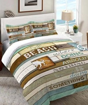 Rustic Striped Beach Bedding and Comforter Set