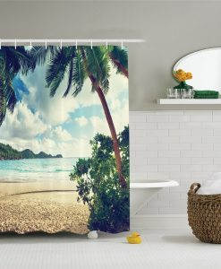 Palm Tree Hallway Shower Curtain