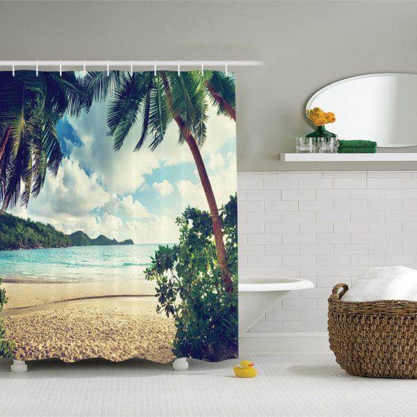 Palm Tree Hallway Shower Curtain