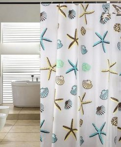 3-Blue-Pier-Starfish-Seashell-Shower-Curtain-247x300 The Best Beach Shower Curtains You Can Buy