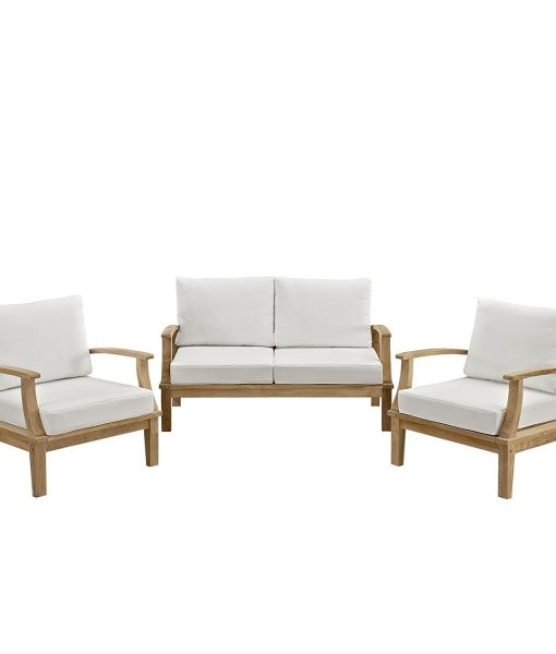 lexmod outdoor teak sofa set