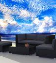 urban finishing modern wicker sofa set