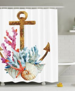 30-Anchor-Coral-Shell-Shower-Curtain-247x300 The Best Anchor Shower Curtains You Can Buy