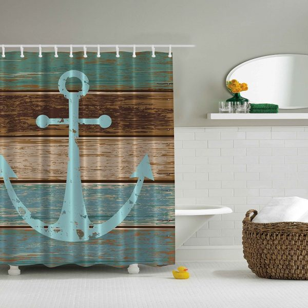 rustic beach themed kitchen decor | Nautical and Beach Themed Shower Curtains - Beachfront Decor