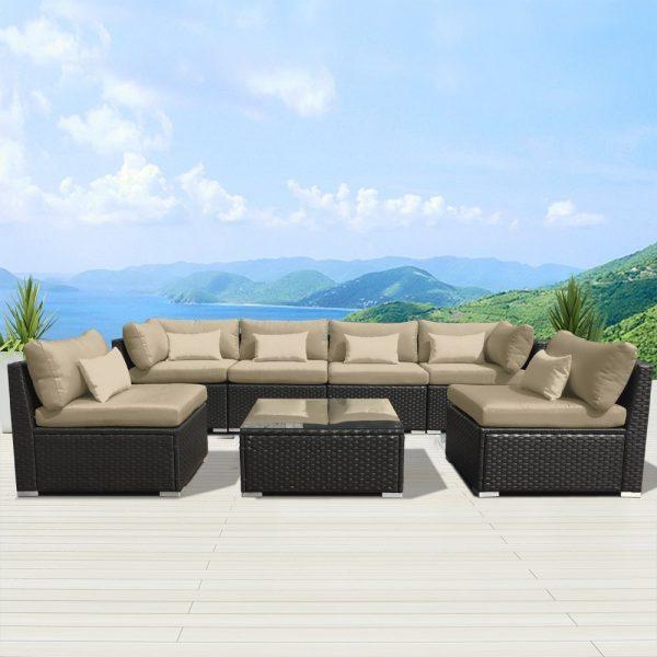Modenzi Outdoor Wicker Sofa Set