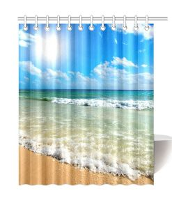 5-Tropical-Beach-Waves-Shower-Curtain-247x300 The Best Beach Shower Curtains You Can Buy