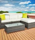 best choice products wicker sofa set