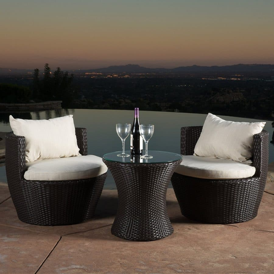 5 Kyoto Outdoor Wicker Conversation Set Best Outdoor Wicker Patio Furniture  ...