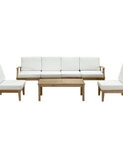 lexmod 7pc outdoor teak sofa set