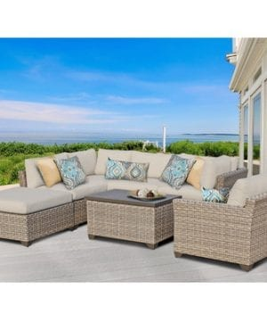 Monterey 7-PC Cushioned Wicker Sectional Set