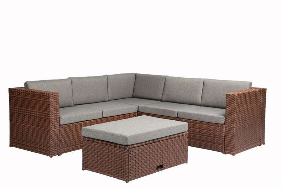 Baner Garden Corner Wicker Sofa