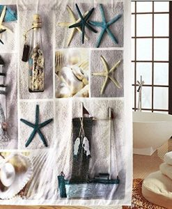 Starfish and Lighthouse Shower Curtain