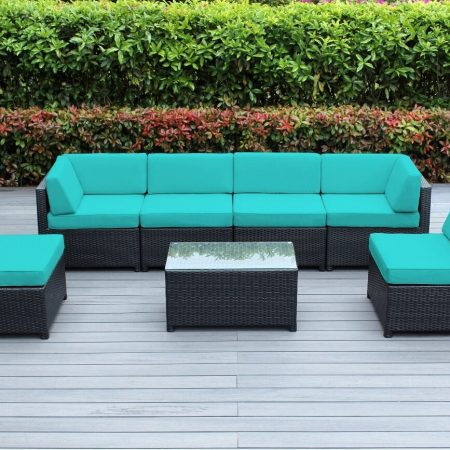 8-ohana-mezzo-7pc-turquoise-wicker-sofa-set-450x450 Best Outdoor Wicker Patio Furniture