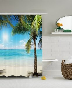 9-Tropical-Palm-Tree-Beach-Themed-Shower-Curtain-247x300 The Best Beach Shower Curtains You Can Buy