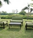 outdoor dark teak sofa set