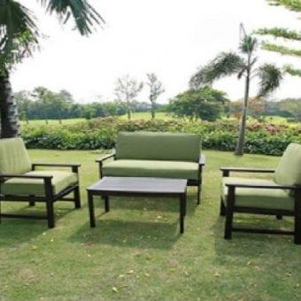 outdoor dark teak sofa set
