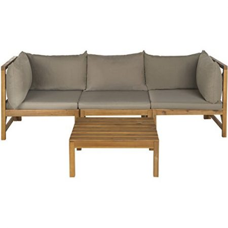 9-safavieh-outdoor-lynwood-teak-sectional-450x450 The Ultimate Guide to Outdoor Teak Furniture