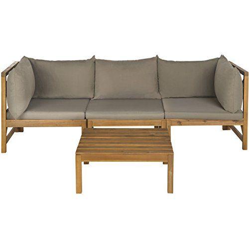safavieh outdoor lynwood teak sofa set