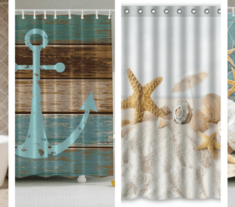 beach-shower-curtains-340x300 The Best Beach Themed Salt and Pepper Shakers