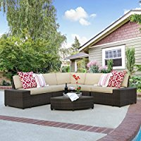 best-choice-products-brown-wicker-sectional-sofa The Best Wicker Sectional Sofas You Can Buy