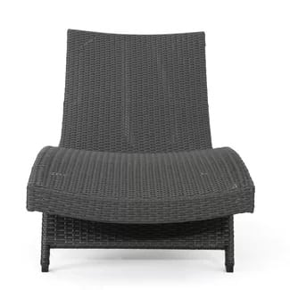 Wicker chaise lounge chairs beachfront decor for Black wicker chaise lounge