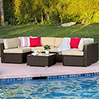 brown-wicker-sectional-sofa-outdoor-patio The Best Wicker Sectional Sofas You Can Buy