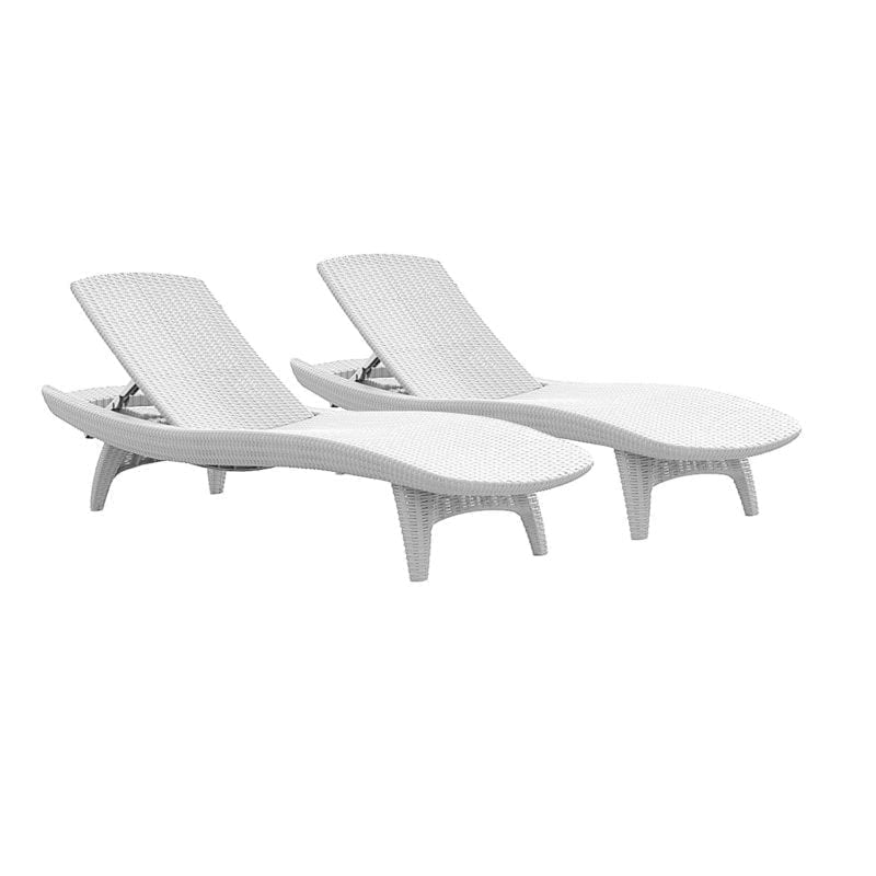 Wicker chaise lounge chairs beachfront decor for All weather wicker chaise lounge