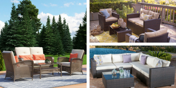 outdoor wicker furniture sets