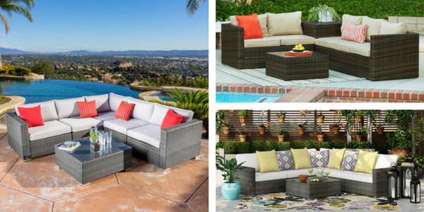 outdoor wicker sectional sofas