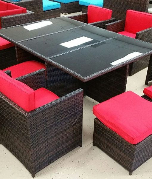 13 Piece Outdoor Wicker Furniture Set