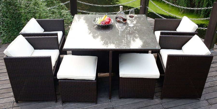 Wicker patio dining sets beachfront decor for Outdoor dining furniture sale