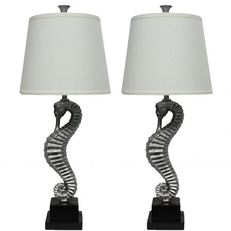 1-urbanest-antique-silver-seahorse-lamps-450x450 100+ Coastal Themed Lamps
