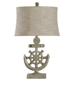 StyleCraft Shipwheel Nautical Table Lamp