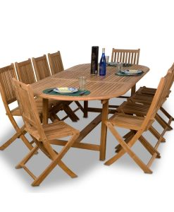 Amazonia Teak Bergen 11-PC Oval Dining Set
