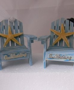 10-blue-adirondack-chairs-starfish-wedding-cake-topper-247x300 Beautiful Beach Themed Wedding Cake Toppers