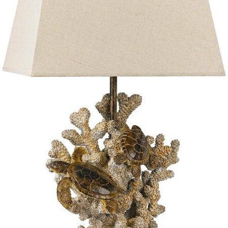 10-cal-lighting-sand-stone-turtle-coral-lamp-450x450 100+ Coastal Themed Lamps