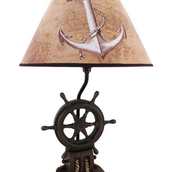 10-captains-shipwheel-anchor-nautical-lamp-600x600 Best Nautical Themed Lamps