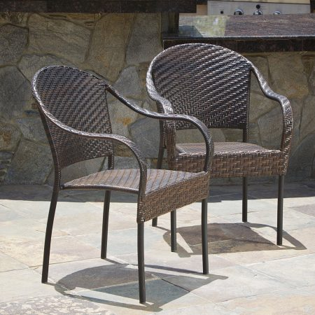 10-set-of-2-outdoor-stackable-wicker-chairs-450x450 Best Outdoor Wicker Patio Furniture