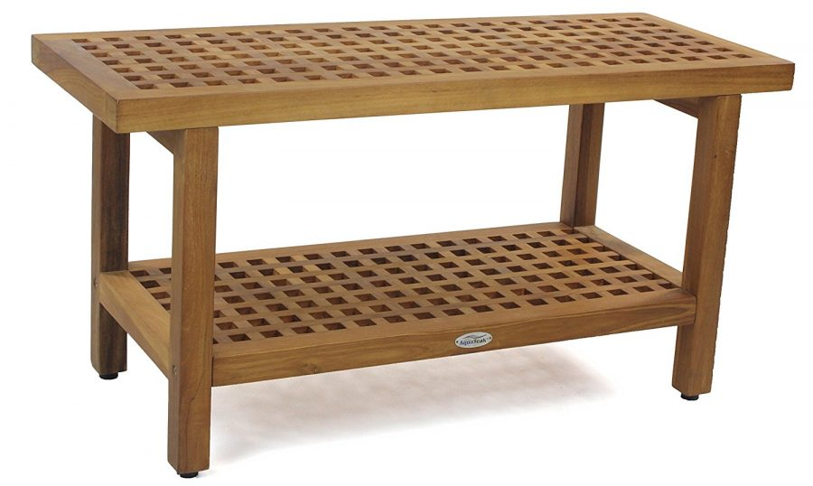 The Original Grate 36 Teak Shower Bench