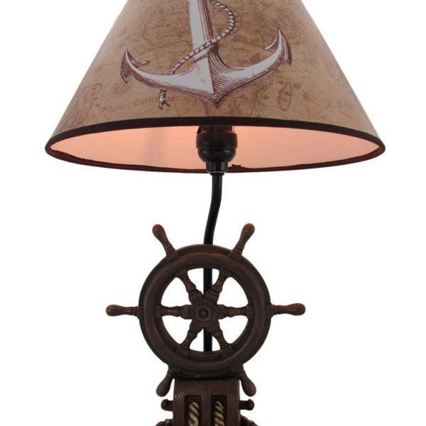 10b-captains-shipwheel-anchor-nautical-lamp-600x600 Best Nautical Themed Lamps