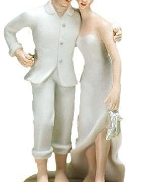 Feet In The Sand Beach Wedding Cake Topper