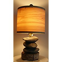 11-beach-stone-lamp-driftwood-base Coastal Themed Lamps