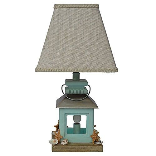 Coastal Lantern Seashell Beach Table Lamp