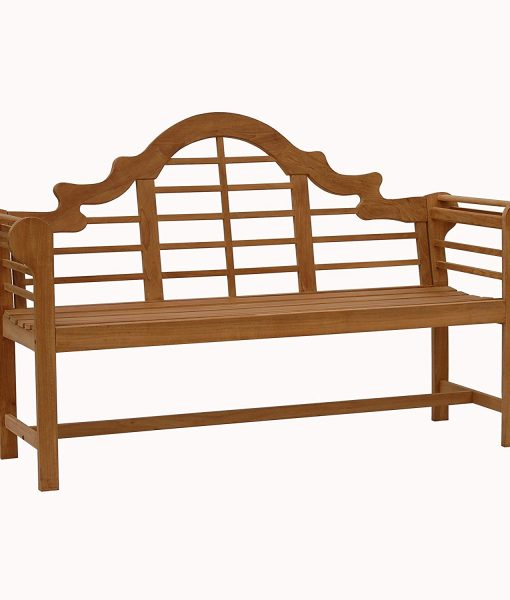 "Lutyens Brown 4"" Wood Teak Bench"