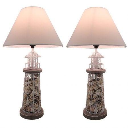 11-seashell-metal-mesh-table-lamps-450x450 100+ Coastal Themed Lamps