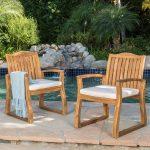 Tampa Teak Acacia Wood Chairs (Set of 2)