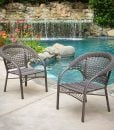 Malibu Grey Wicker Dining Chair