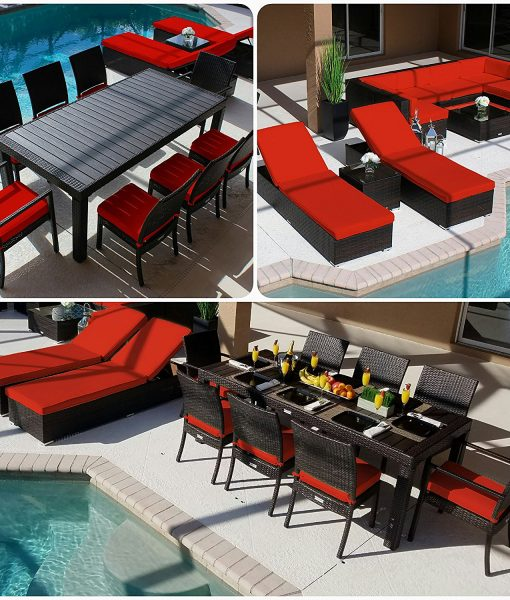12-modern-19pc-outdoor-red-patio-furniture-set