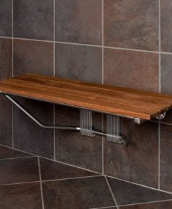 Modern Folding Built-In Teak Shower Bench